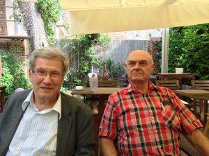 Der Schatzmeister aus Lübeck und der VDI-Freund aus Australien. (Quelle: Klaus Knaack)